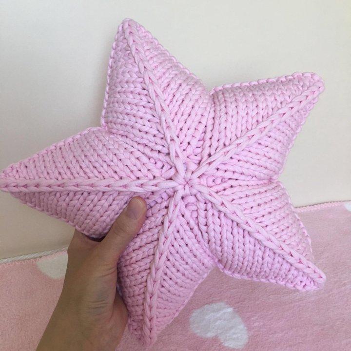 подушка звезда вязаная крючкомспицами купить в москве цена 1 200