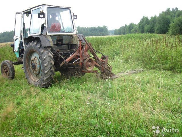 картинки покос травы трактором