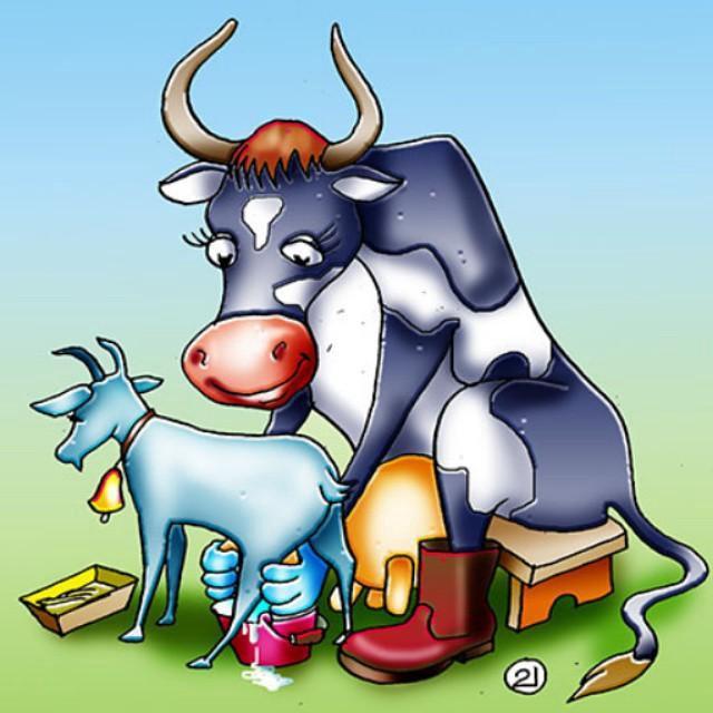 рисунок прикольных коз угольный