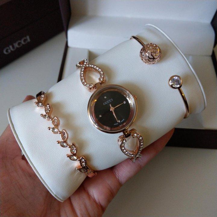 Часы Gucci с браслетами в Кокшетау