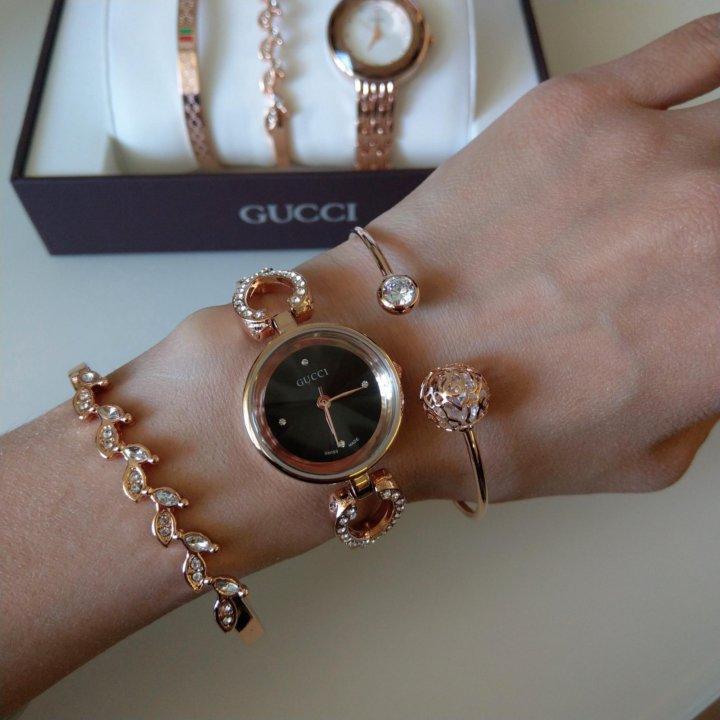 Часы Gucci с браслетами в Орехово-Зуево