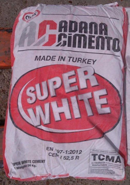как разводить белый цемент м600