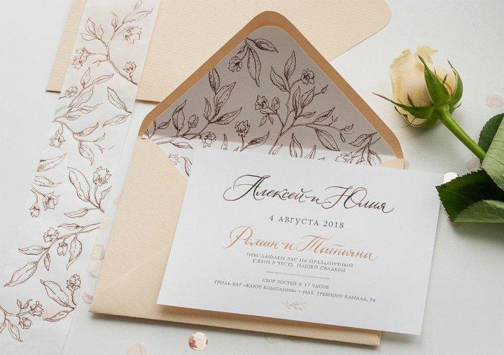 Как подписать приглашения на свадьбу