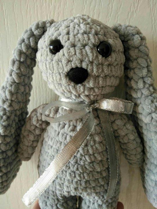 серый заяц вязаный крючком купить в армавире цена 450 руб