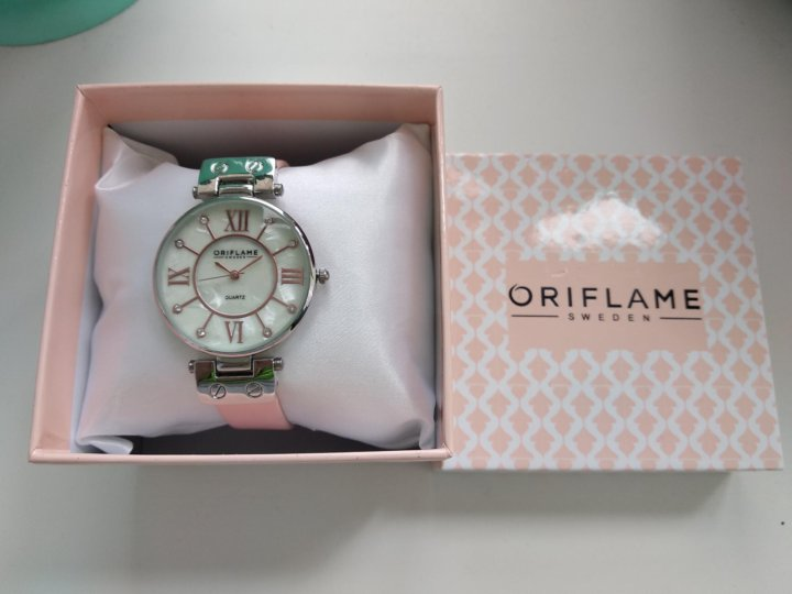 stylised flower watch oriflame