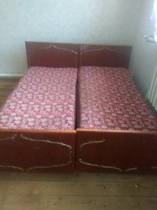 две кровати полуторки и матрас купить цена 2 000 руб дата