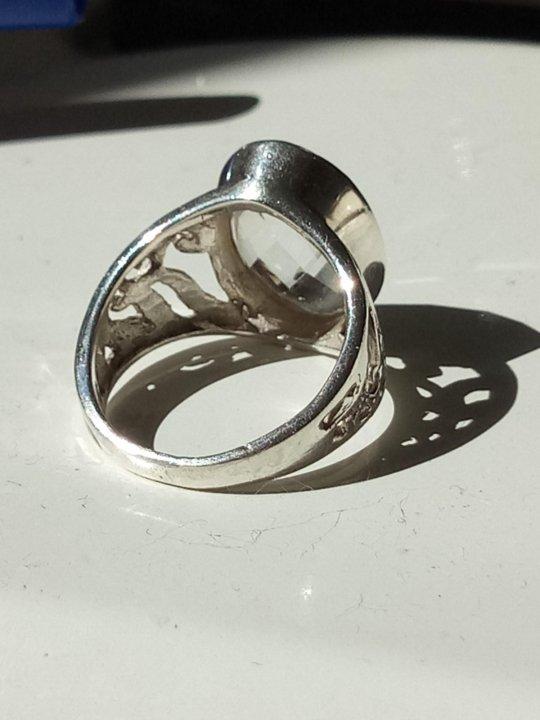 Екатеринбург. Кольцо серебро 925 горный хрусталь 16 размер. Фото 3. 06202abbc44