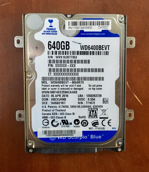 WD6400BEVT DRIVERS FOR PC