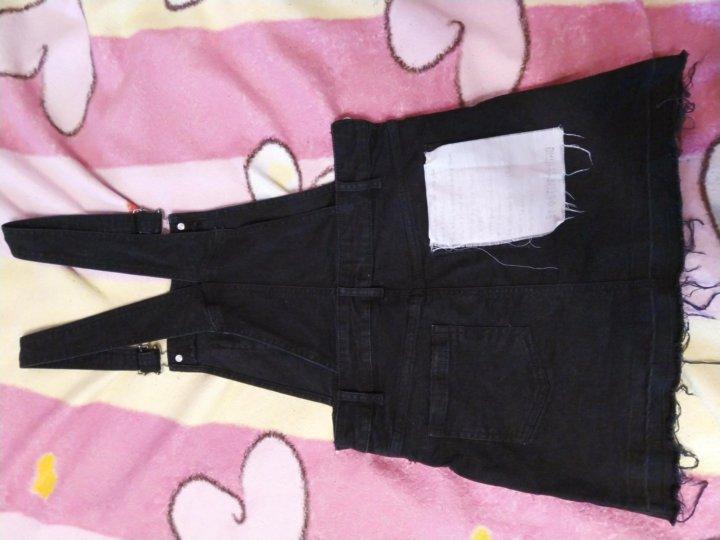 2020f779729 Юбилейный. Новое джинсовое платье-комбинезон остин 40-42. Фото 4. Юбилейный.