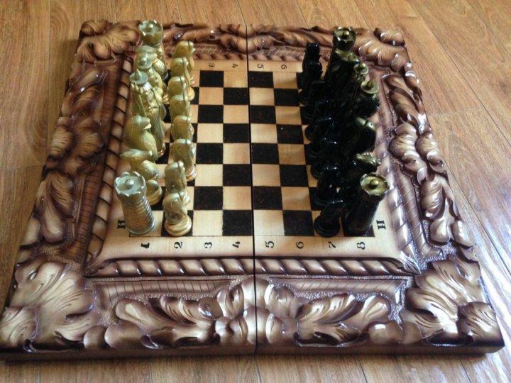 шахматы ручной работы деревянные купить в подольске цена 5 000