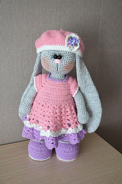кукла заяц тильда вязаный купить в тюмени цена 2 500 руб