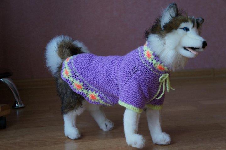 вязаная одежда для собак и кошек купить в москве цена 500 руб