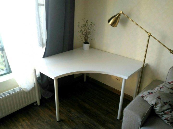 письменный угловой стол икеа белый Linnmon купить в санкт