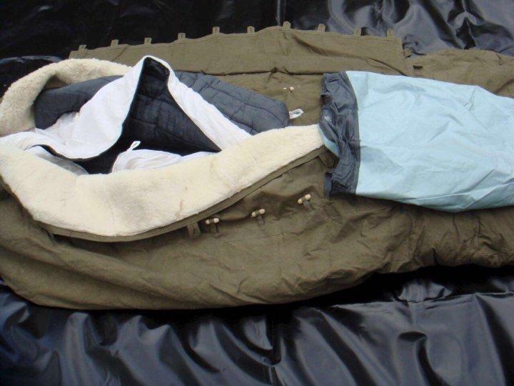 меховой спальный мешок купить