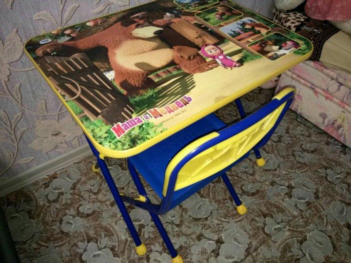 детский стол и стульчик маша и медведь купить в тюмени цена 1