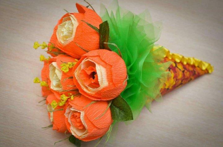 Готовые букеты к 1 сентября из конфет, цветы