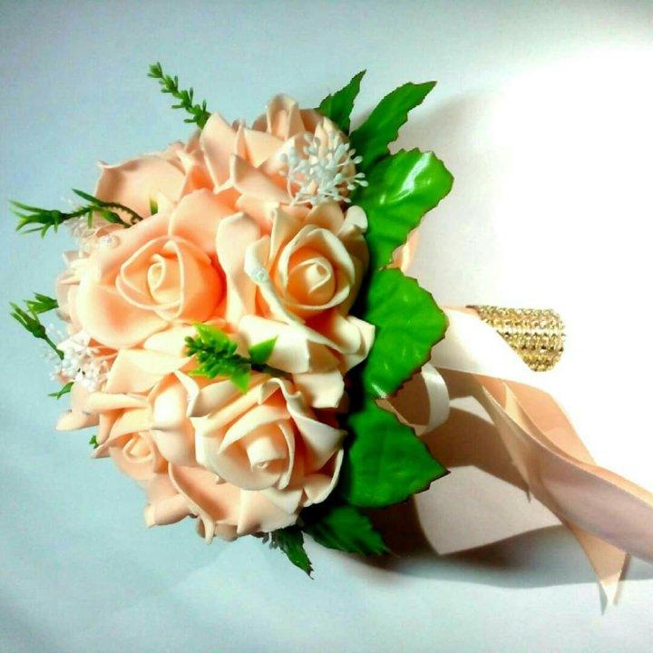 Свадебный букет в симферополе, стильный букет из пионов