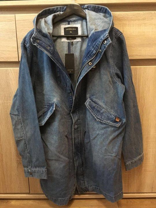 b708b5c483814ae Новая джинсовая куртка Quiksilver Brick – купить в Москве, цена 4 ...