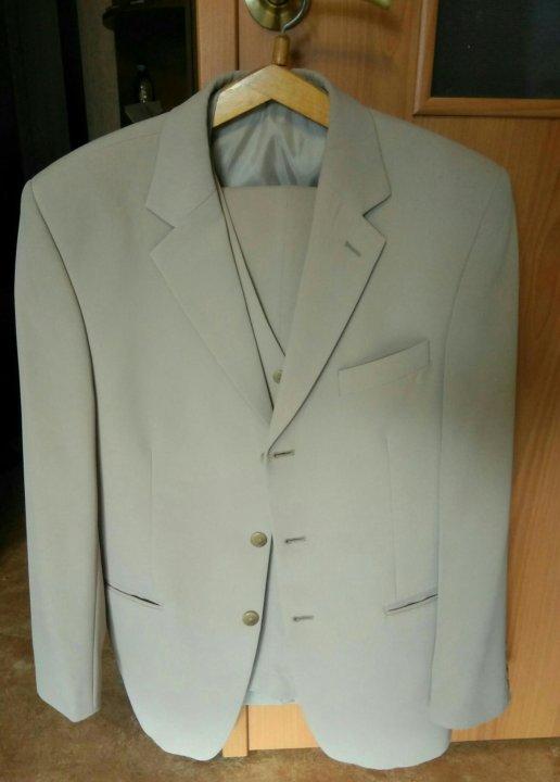 b3e9c9b045b0 Мужской костюм тройка бежевый – купить в Челябинске, цена 1 500 руб ...