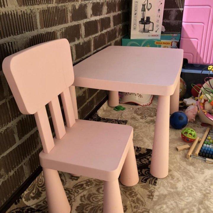стол стул икеа маммут купить в красноярске цена 2 000 руб