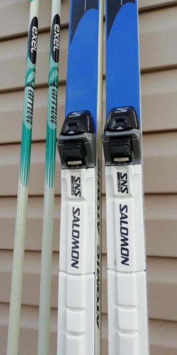 Комплект беговые лыжи Atomic 198см – купить в Москве, цена 4 500 руб ... 5c982dbfb17