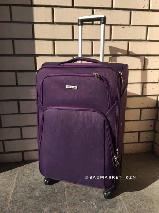 Тканевый чемодан на 4 колёсах разного диаметра – купить в Казани ... 33b706963f5