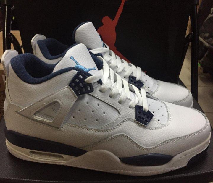 980eb52f Nike air Jordan 4 бело-синие все размеры – купить в Москве, цена 3 ...