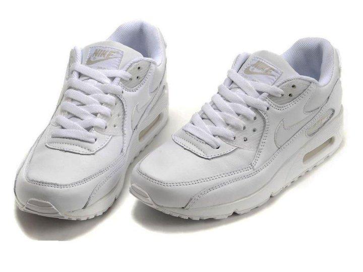 Кроссовки Nike Air Max 90 мужские белые кожаные – купить в Москве ... 243212b20f6