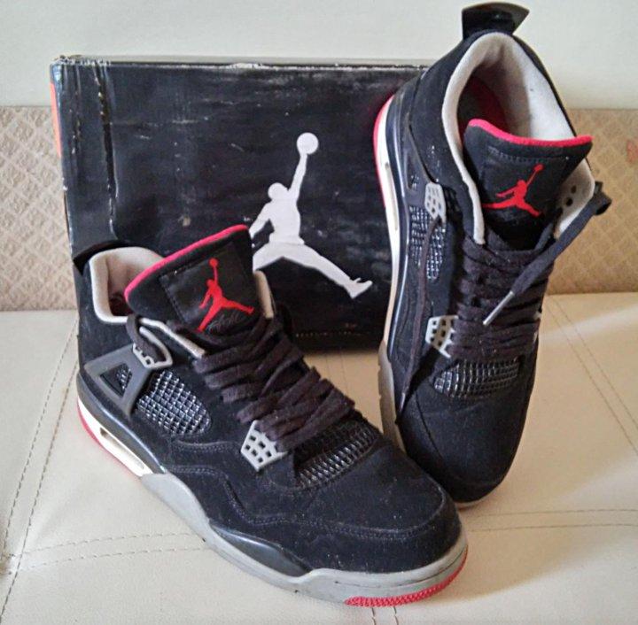 b2e8c9d90bba Высокие кроссовки AIR Jordan 4 retro б у – купить в Москве, цена 500 ...
