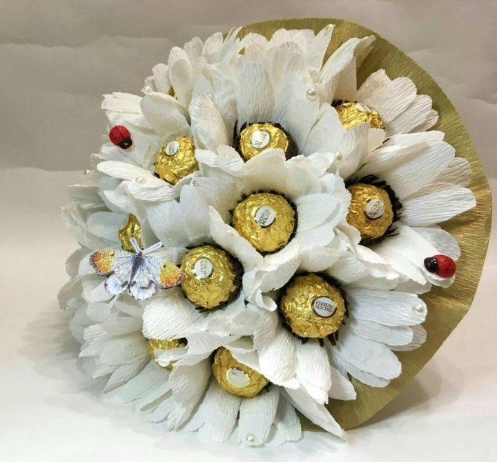 Букет из конфет ромашка