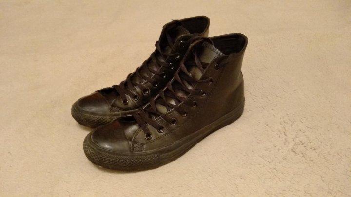 Кеды Converse All Star кожа черн. 42 – купить в Мурино 73046e6a90311