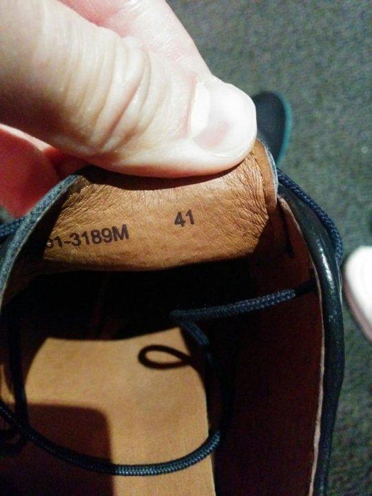Синие кожаные туфли Mascotte 41р – купить в Москве, цена 2 200 руб ... 2163e5b39ed