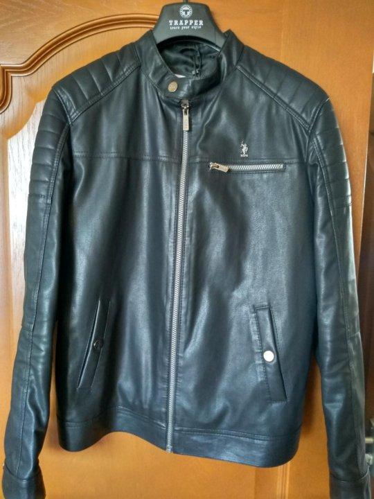 8f4e896c99125 Кожаная куртка U.S. POLO – купить в Москве, цена 5 000 руб., продано ...