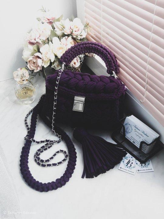 вязаная женская сумка зефирка купить в коломне цена 3 500 руб