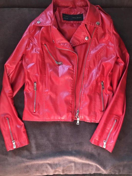47f4a7e63a4 Красная куртка косуха Zara – купить в Москве