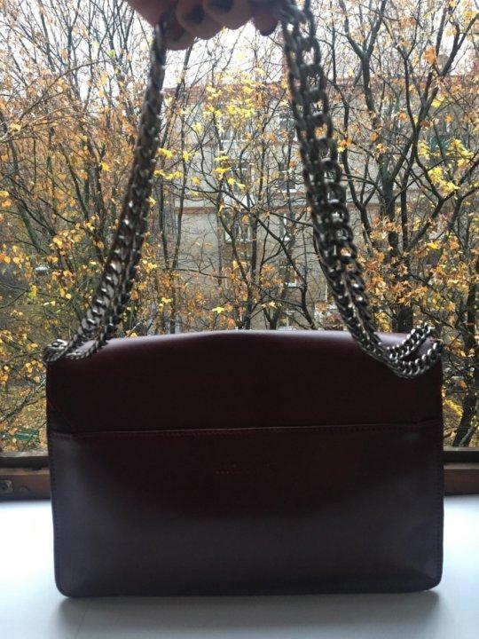 e87c93cd49ad Кожаная сумка Mascotte цвета бургунди – купить в Москве, цена 600 ...