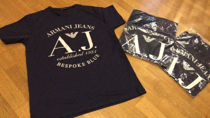 4a7e649548ad0 Мужская Новая футболка Armani Jeans – купить в Москве, цена 400 руб ...