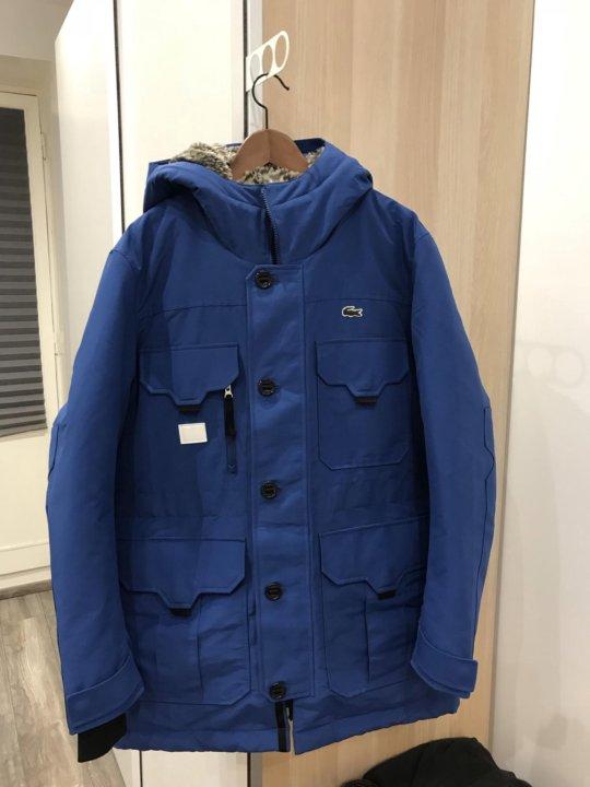 Мужская куртка парка Lacoste hooded blue новая – купить в Москве ... ebc194fb060