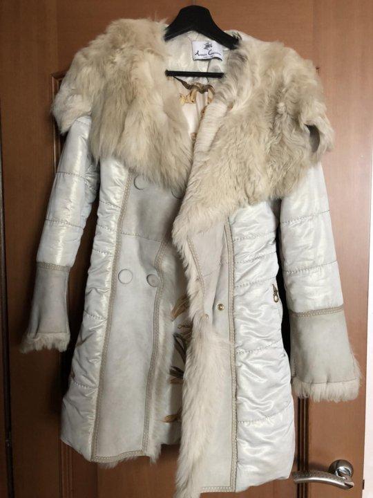 e73f4a41251 Зимнее пальто с мехом ламы Antonio Cosentino – купить в Москве