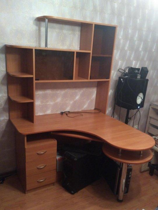 угловой компьютерный стол с надстройкой купить в санкт петербурге