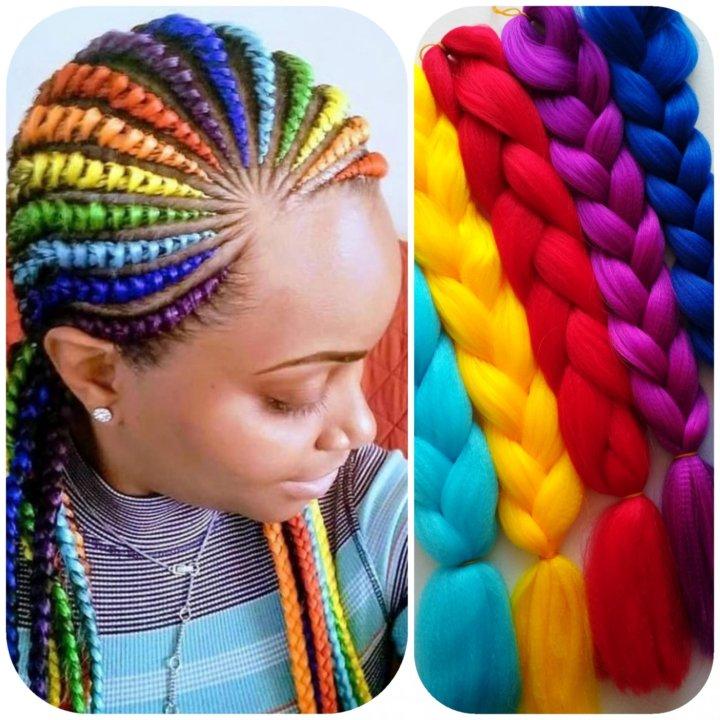 a0192a96a9e8 Канекалон всех цветов радуги – купить в Одинцово, цена 200 руб ...