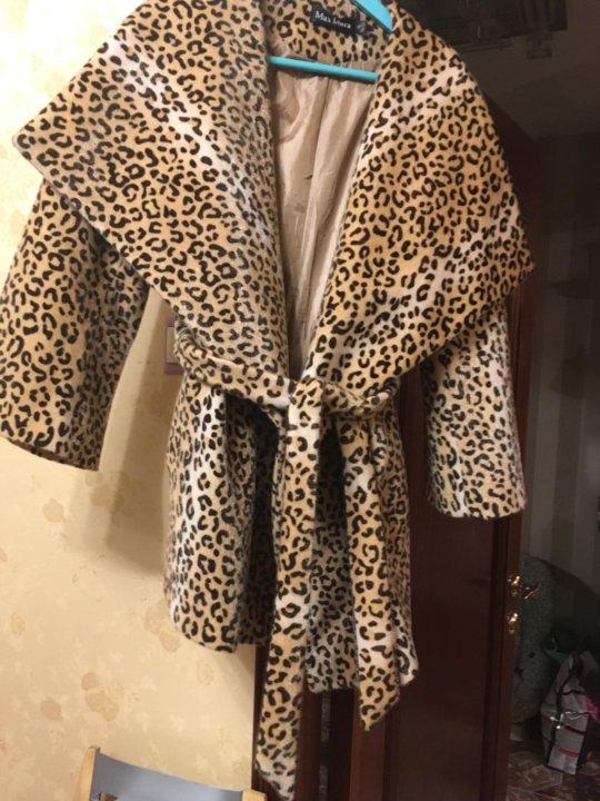 2fdc95aff25a Пальто леопардовое – купить в Москве, цена 1 800 руб., продано 23 ...