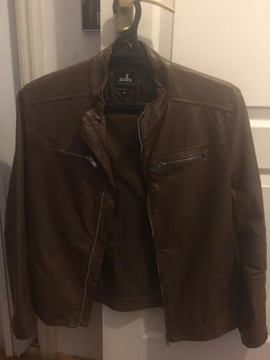 c15024ce980 Мужская кожаная куртка Zolla – купить в Москве