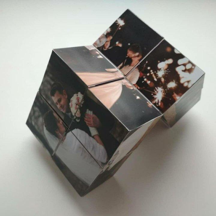 Открытка кубик с фото, делать своими руками
