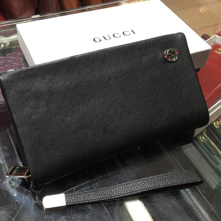 Мужской кожаный кошелек Gucci – купить в Москве, цена 1 699 руб ... b246255a9d6