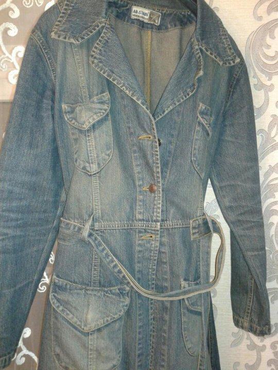 джинсовый френч для полных фото