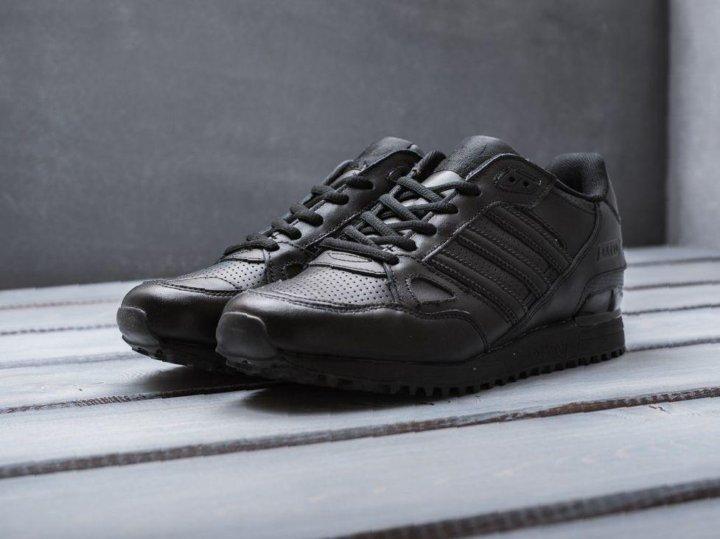 buy online 8588e 3e85e Кроссовки Adidas ZX 750 мужские черные кожаные