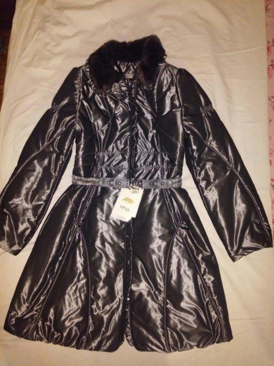 387bb3bda80 Шикарное новое пальто Италия Orsa ворот норк р44 – купить в Москве ...