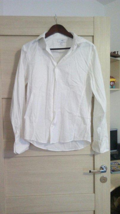 000ed7f0da2 Мужская белая рубашка 46-48 размер – купить в Кудрово