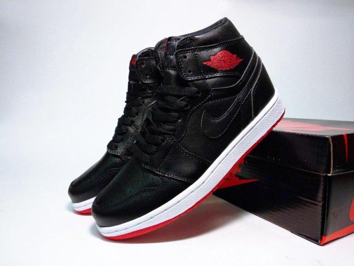 553dddef Кроссовки Nike Air Jordan 1 мужские черные красные – купить в Москве ...